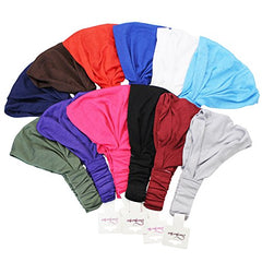 CoverYourHair Wide Sport Headband - Cotton Headbands - Yoga Hairband 12 Pack