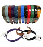 Plastic Hairbands - Hard Headbands - 12 Pack Colorful Hairband by CoverYourHair