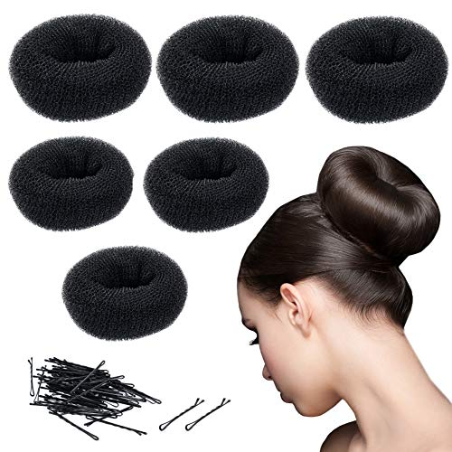 Bun Maker Donut - 3 Large Hair Buns, 3 Medium Buns & 60 Bobby Pins - Bun Maker - Updo Hair Accessories by CoverYourHair