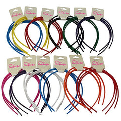 Plastic Hard Headbands - 36 Pack by CoverYourHair