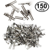 CoverYourHair Double Prong Clips - 150pc - 1.8 Inch Prong Clip - Alligator Hair Clips - Hair Styling Clips