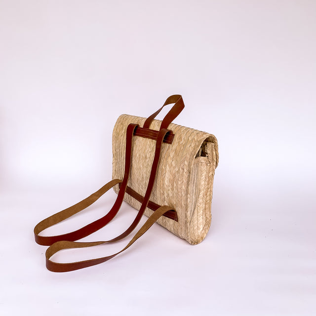 Palma Straw Backpack