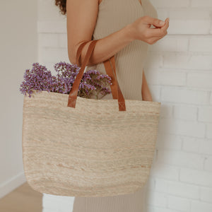 Harlow Straw Market Tote