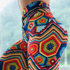 Colorful jacquard high waist print sports fitness bottoming yoga pants