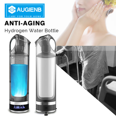 500 ML USB Rechargeable Hydrogen Rich Water Ionizer with LED Display