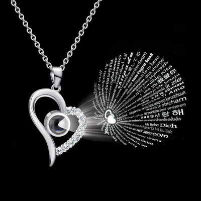 Valentines Day '100 Languages I Love You' Necklace