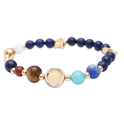 Solar System Eight Planet Natural Stone  Bracelet