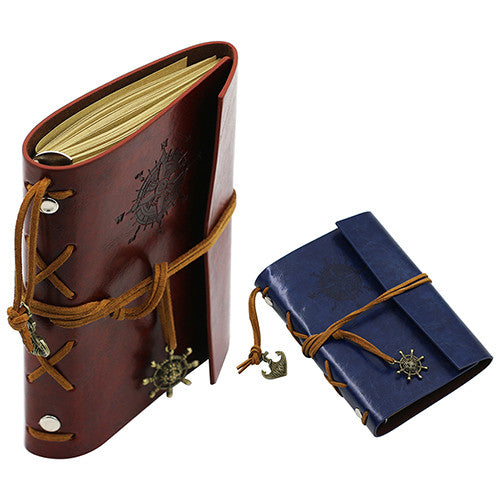 Retro Anchor Faux Leather Notebook Cover - 6 Colors