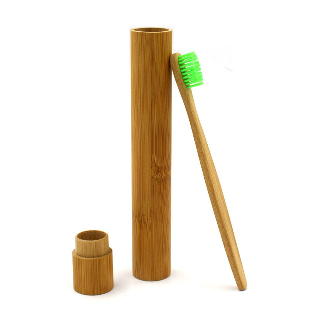 Reusable Bamboo Tube with Toothbrush