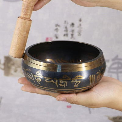 Hand Hammered Meditation Yoga Tibetan Singing Bowl