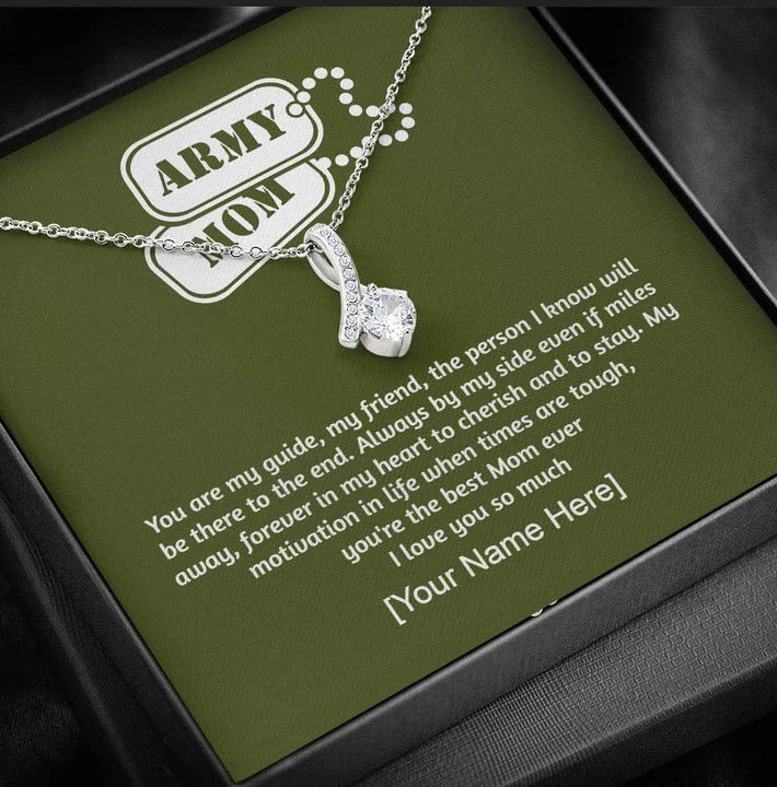 Mother's Day Gift From Army Son or Army Daughter With Personalized Message Card