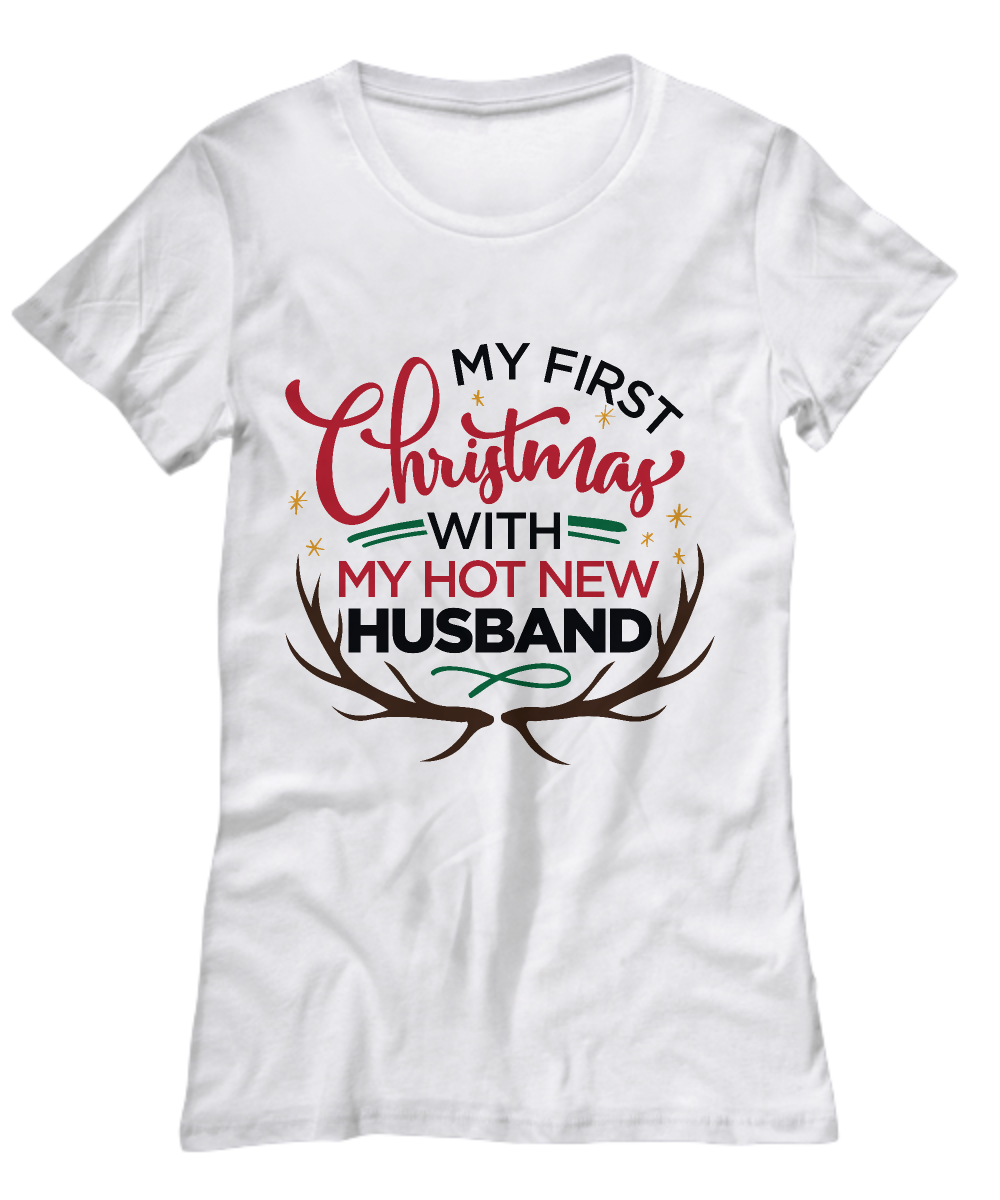 My First Christmas with my Hot New Husband' t-shirt