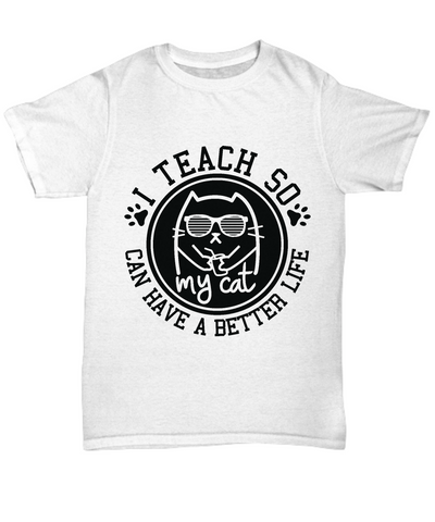 Funny Teacher, Cat Owner T-Shirt