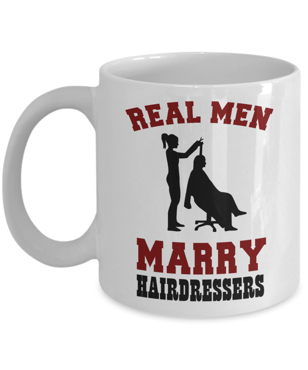 Real Men Marry Hairdressers Mug