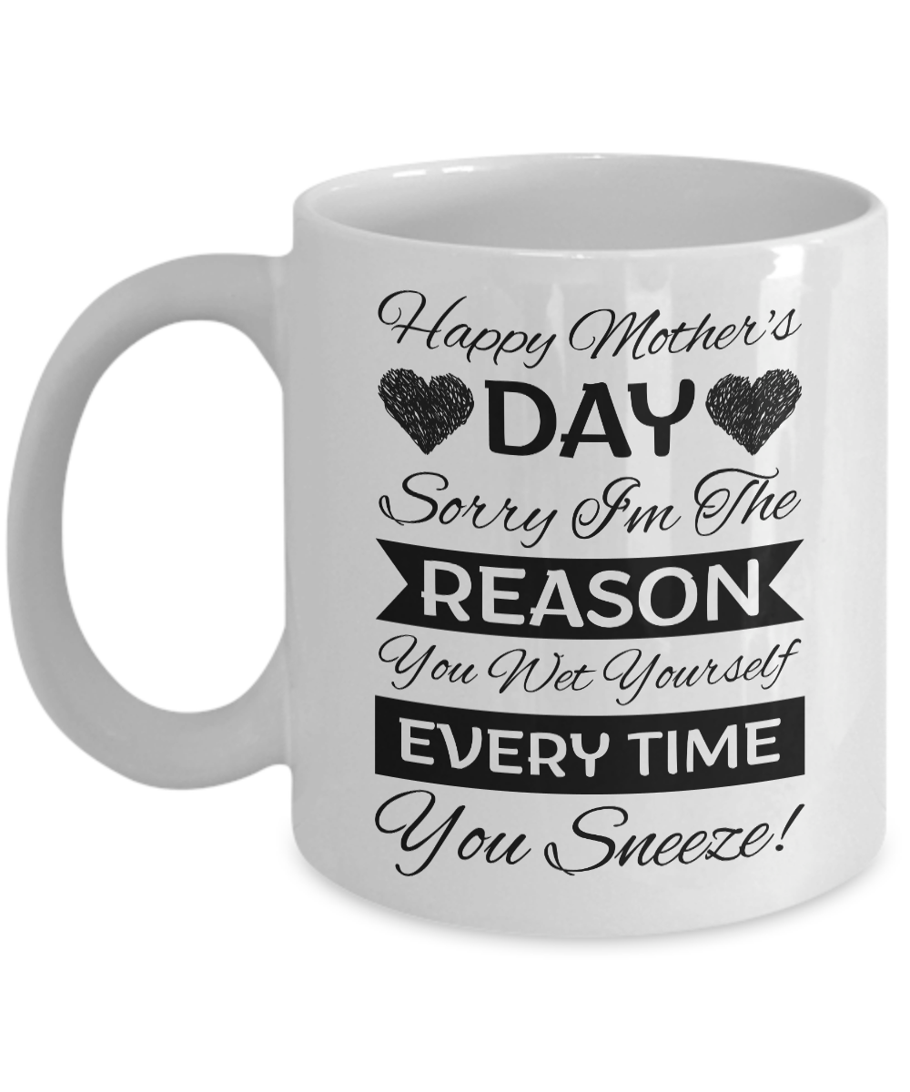 Funny Mothers Day Gift Coffee Mug from Son, Daughter