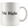 Mr and Mrs Right Valentines Mug Set