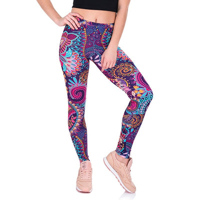 Psychedelic Design High Waist Yoga Pants for Women