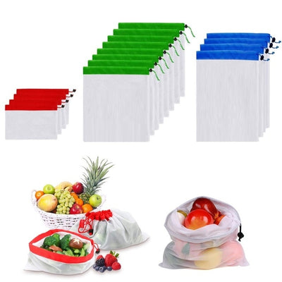 Reusable Produce Bags Washable Eco Friendly Mesh Grocery Bags