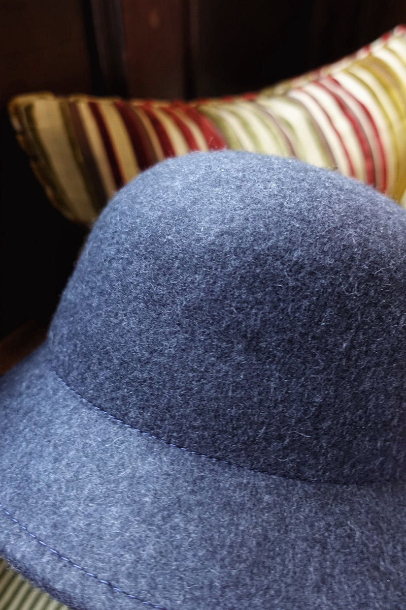 Wool Bucket Hat (Navy)