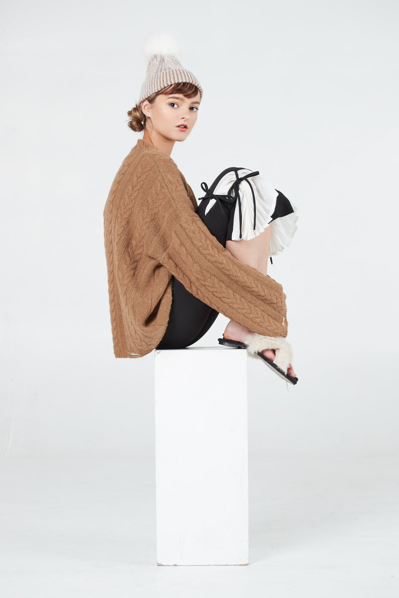 Relaxed Wool Knit Sweater