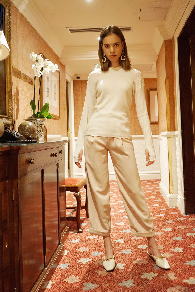 Relaxed High Rise Trousers