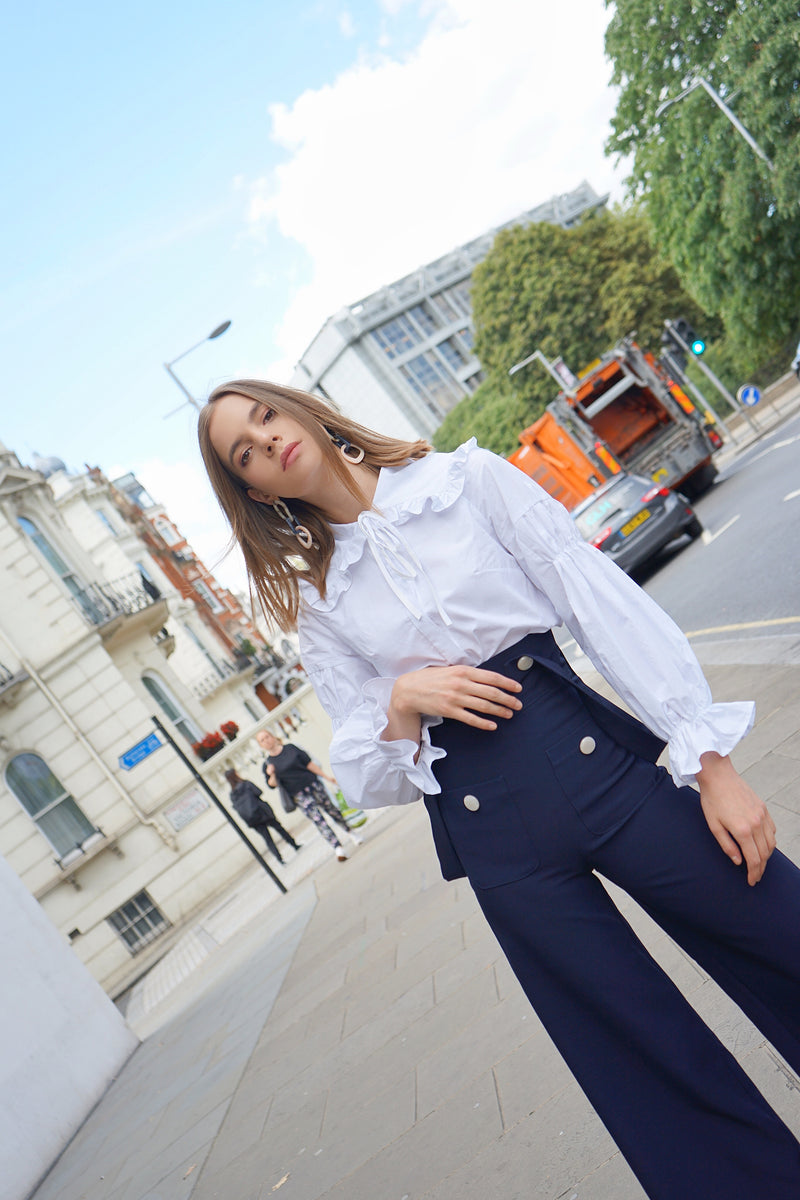 Navy Collar Shirt