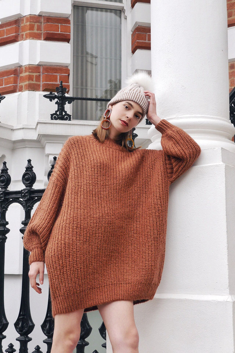 Oversized Wool Blend Sweater