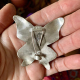Butterfly Brooch in Moonstone
