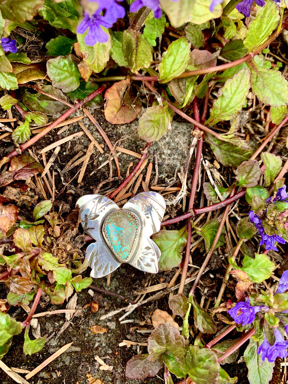 Butterfly Brooch in Number 8 Turquoise