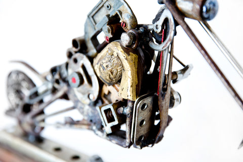Small Motorcycle Sculpture