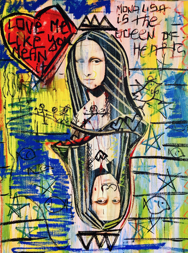 Queen of Hearts Mona Lisa