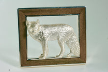 Wild Fox Sterling Silver and Inlaid American Walnut Belt Buckle