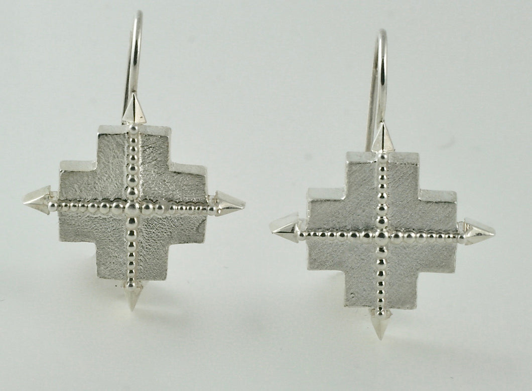 True North Earrings in Sterling Silver, 15mm