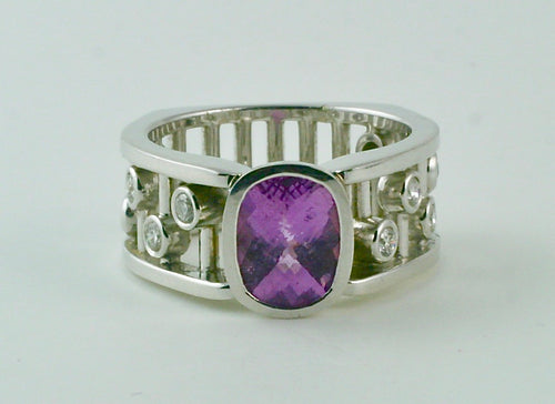Rhapsody Ring with Lavender Tourmaline