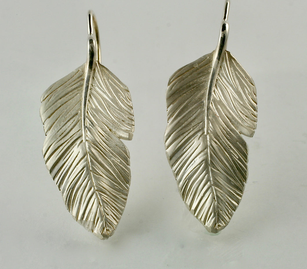 Feather Earrings in Sterling Silver