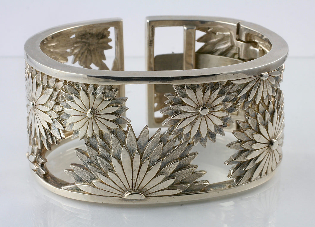 American Metaphor Wide Cuff Bracelet in Sterling Silver