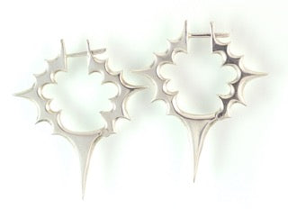 Sterling Silver Primal Spike Earrings, large