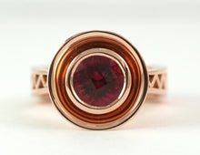 Theorem Zig-Zag Ring with Rubellite Tourmaline
