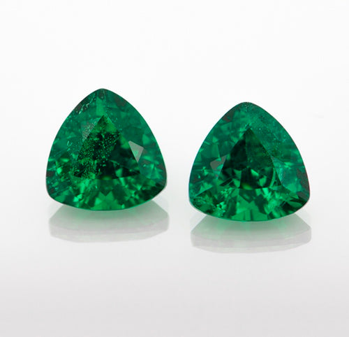 A pair of Tsavorite Garnets
