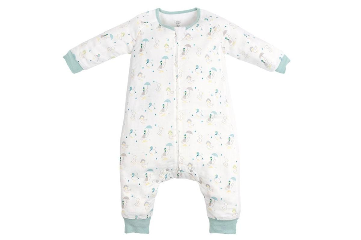Bamboo Long Sleeve Sleep Suit 0.6 TOG - Raining Ducks