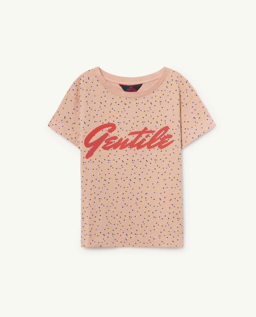 Rooster T-Shirt Toasted Almond Dots