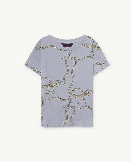 Rooster T-Shirt Blue Ropes