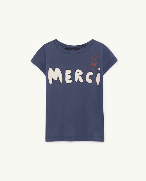 Hippo T-Shirt Blue Merci