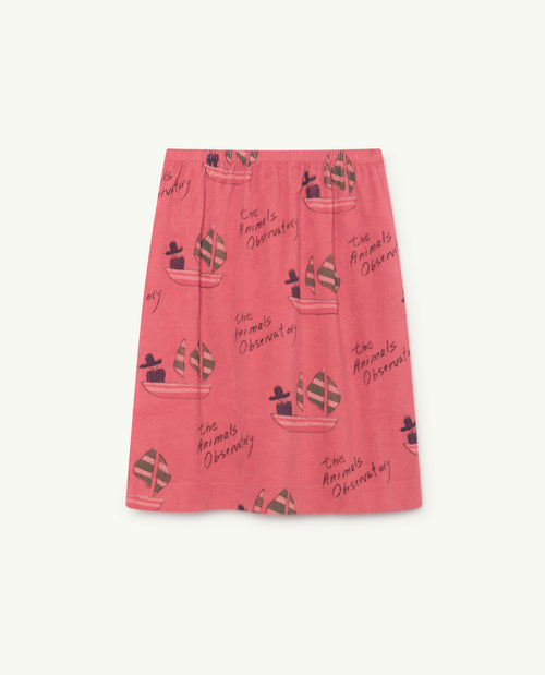 Kitten Skirt Red Ships