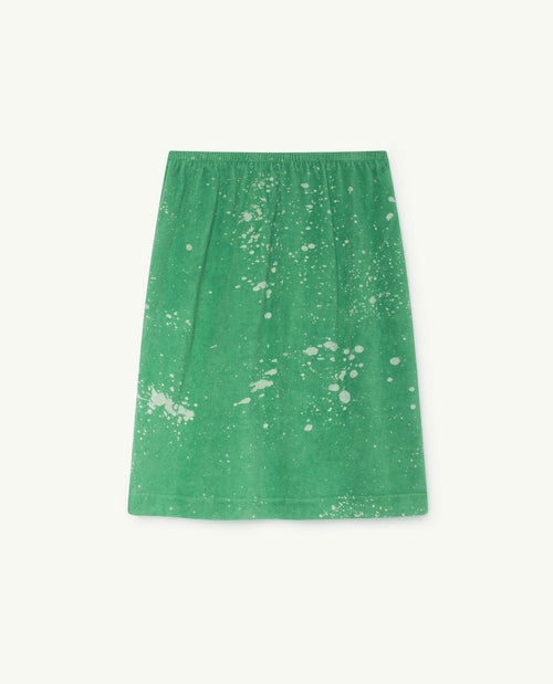 Kitten Skirt Green Splashes
