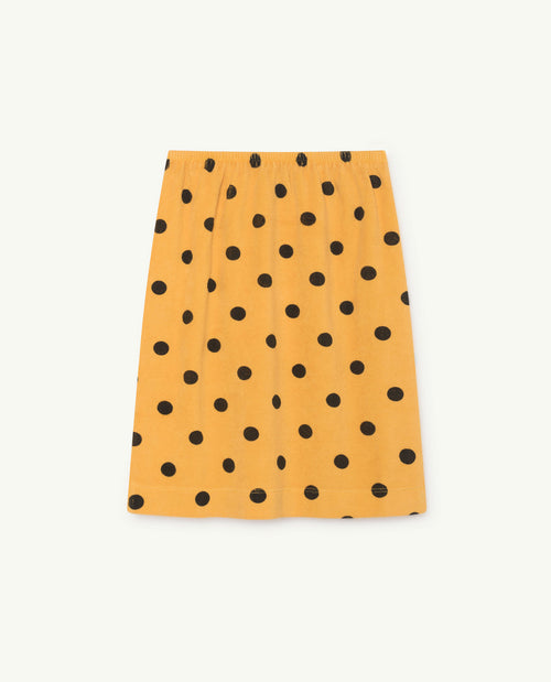 Kitten Skirt Yellow Polka Dots