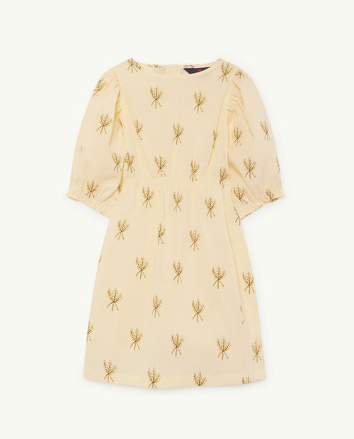 Swallow Dress Yellow Wheat Spikes