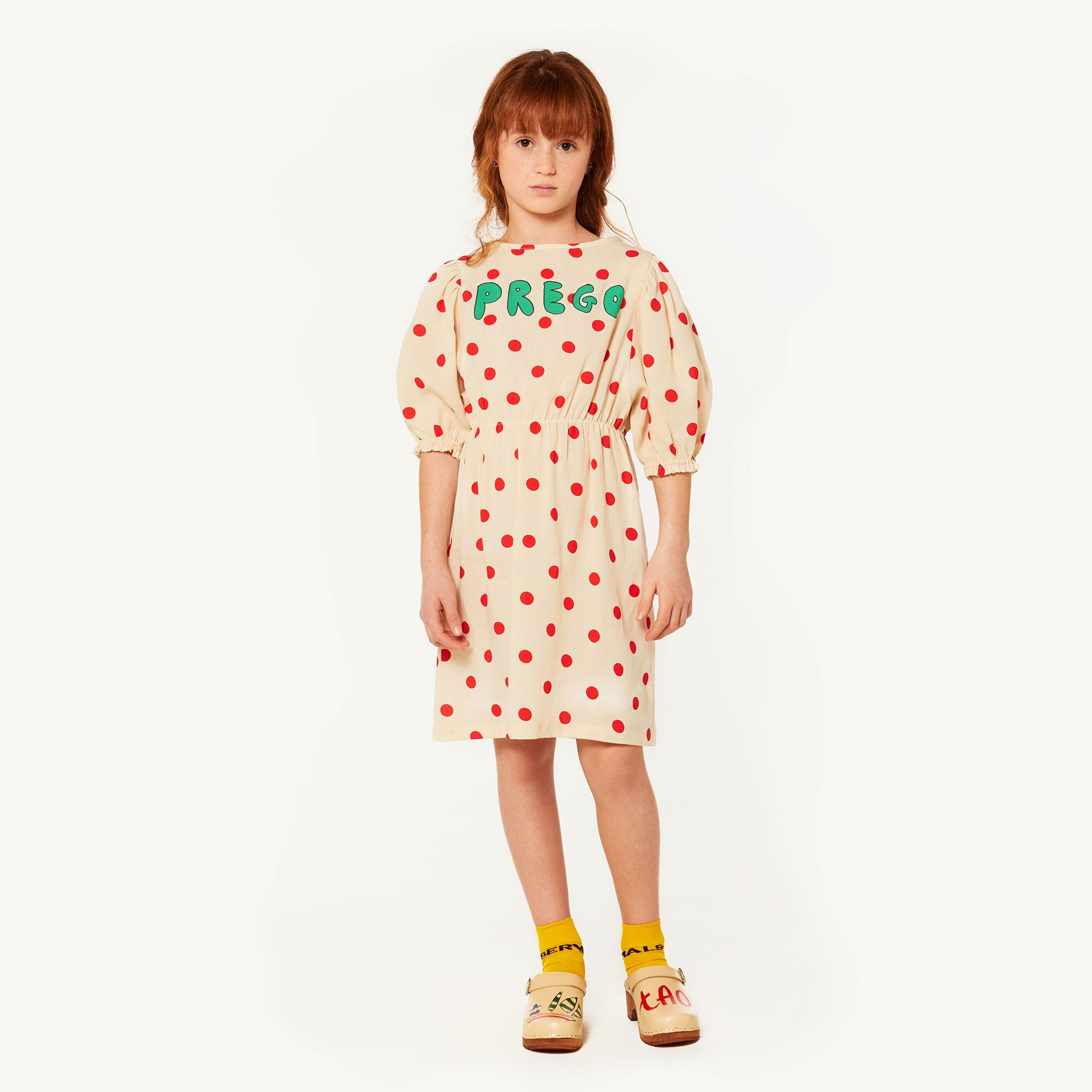 Swallow Dress White Polka Dots