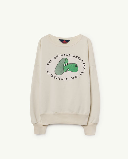 Big Bear Sweatshirt White Dog