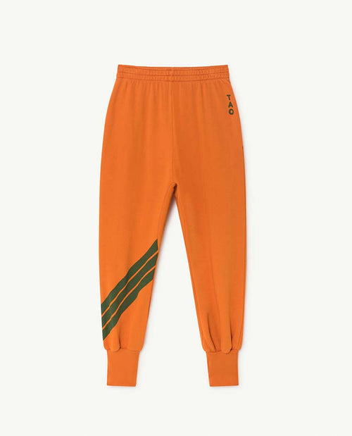 Dromedary Kids Pants Orange Stripes